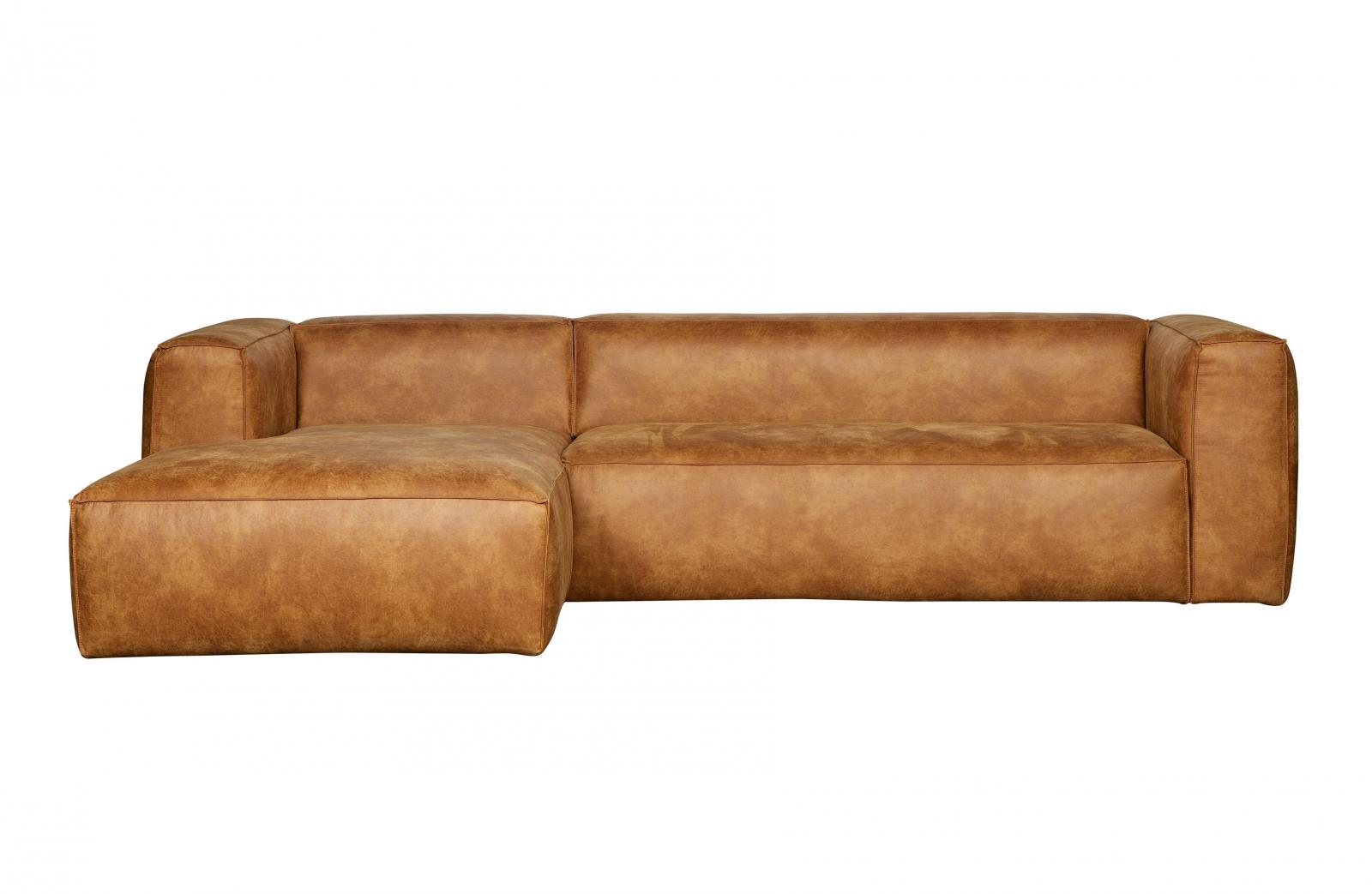 ledercouch cognac sofa woood bean